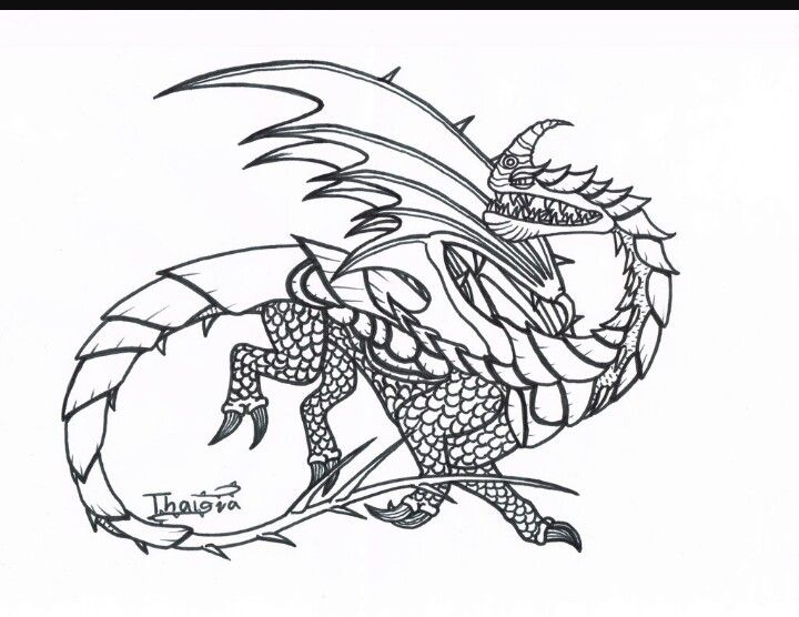 Razorwhip Coloring Dragon Coloring Page Dragon Art Coloring Pictures