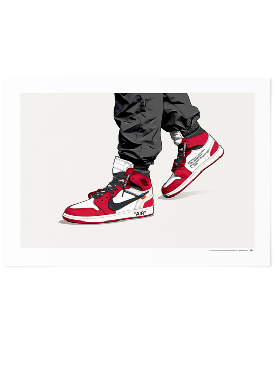 Off White Jordan 1 Chicago On Foot Limited Edition Sneakers