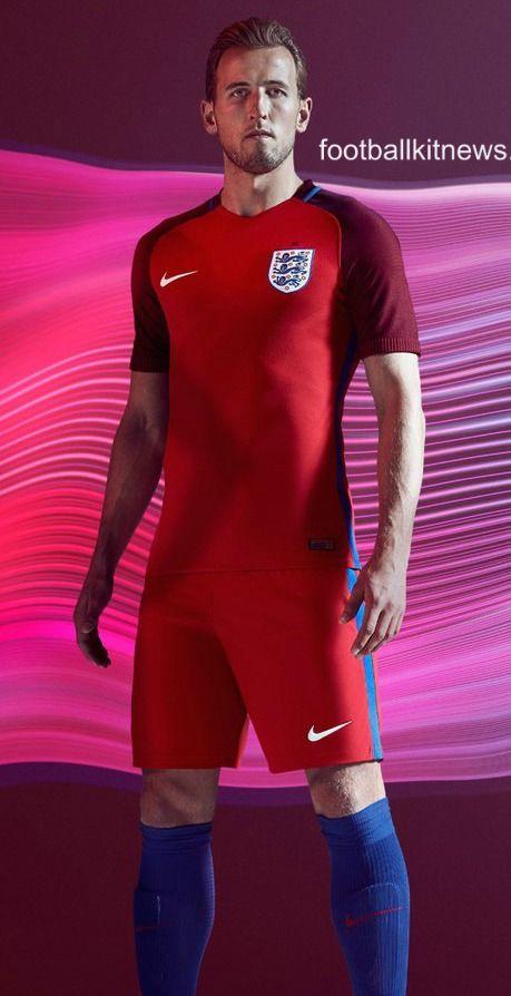 880753fda8d Red England Away Football Shirt Euro 2016. Red England Away Football Shirt Euro  2016 Nike Football Kits ...