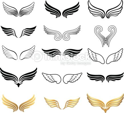 wings of different shape vector graphic eps10 wings icon angel wings tattoo wings drawing angel wings tattoo wings drawing