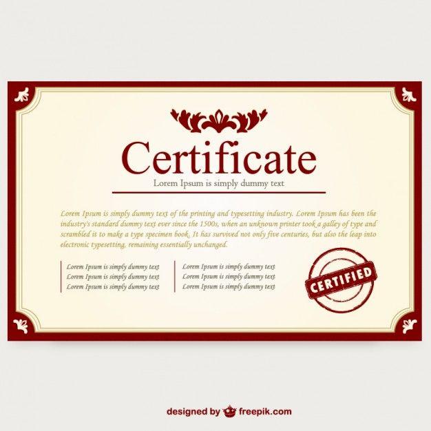 Vector plantilla de certificado Vector Gratis | Certificados y ...