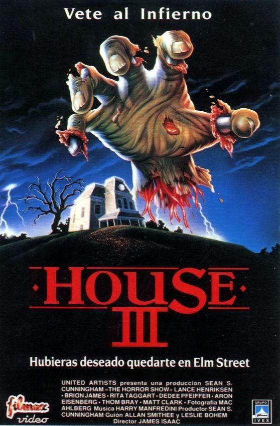 House 3 (1989) Cartazes de filmes de terror, Filmes de