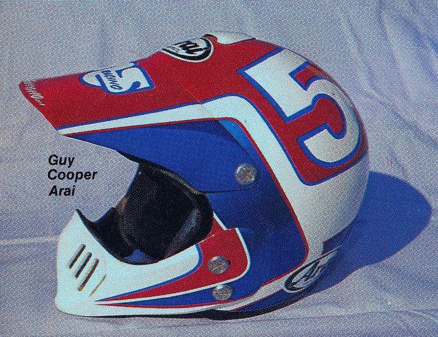 1988 Serrano Painted Arai Of Guy Cooper Flickr Photo Sharing Vintage Motocross Helmet Design Racing Helmets