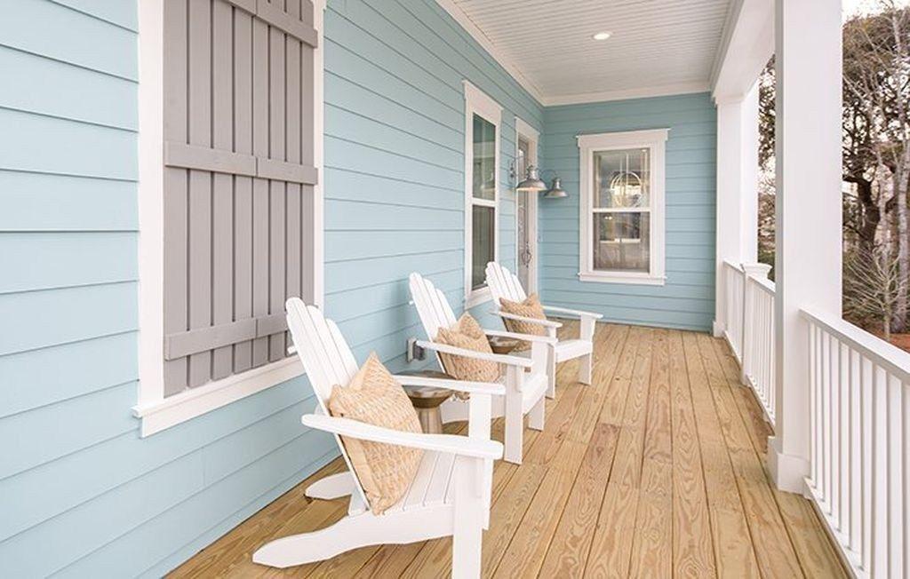 46 Wonderful Beach House Exterior Color Ideas House Paint