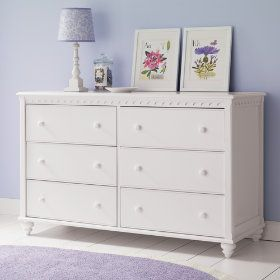 Land of Nod scallop dresser - we got this for the nursery! Gotta love LON outlet!