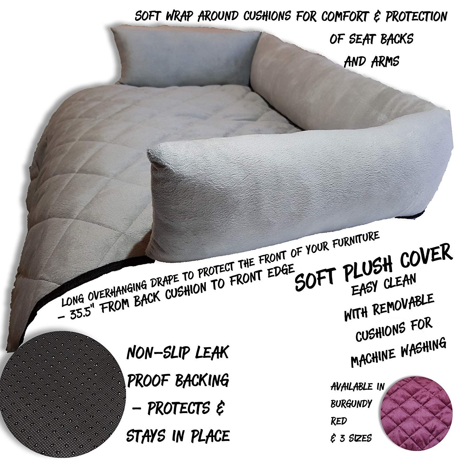 Waterproof Quilted Sofa Covers For Dogs Pets Kids Anti Slip Couch