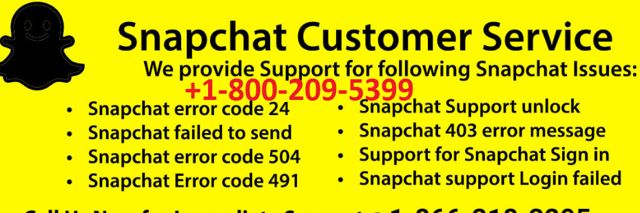 Dial Snapchat Customer Service Number +1-800-209-5399 for
