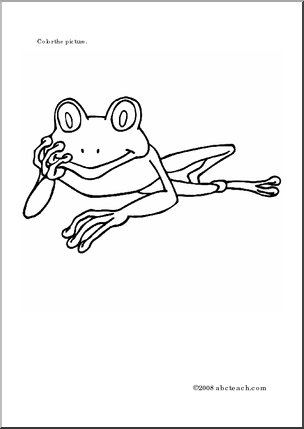 Coloring Page: Tree Frogs - | etc. coloring pages | Pinterest ...