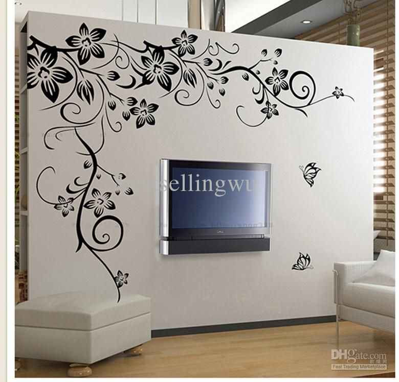 New Home Fashion Decoration Beautiful Flower Vinyl Wall Paper
