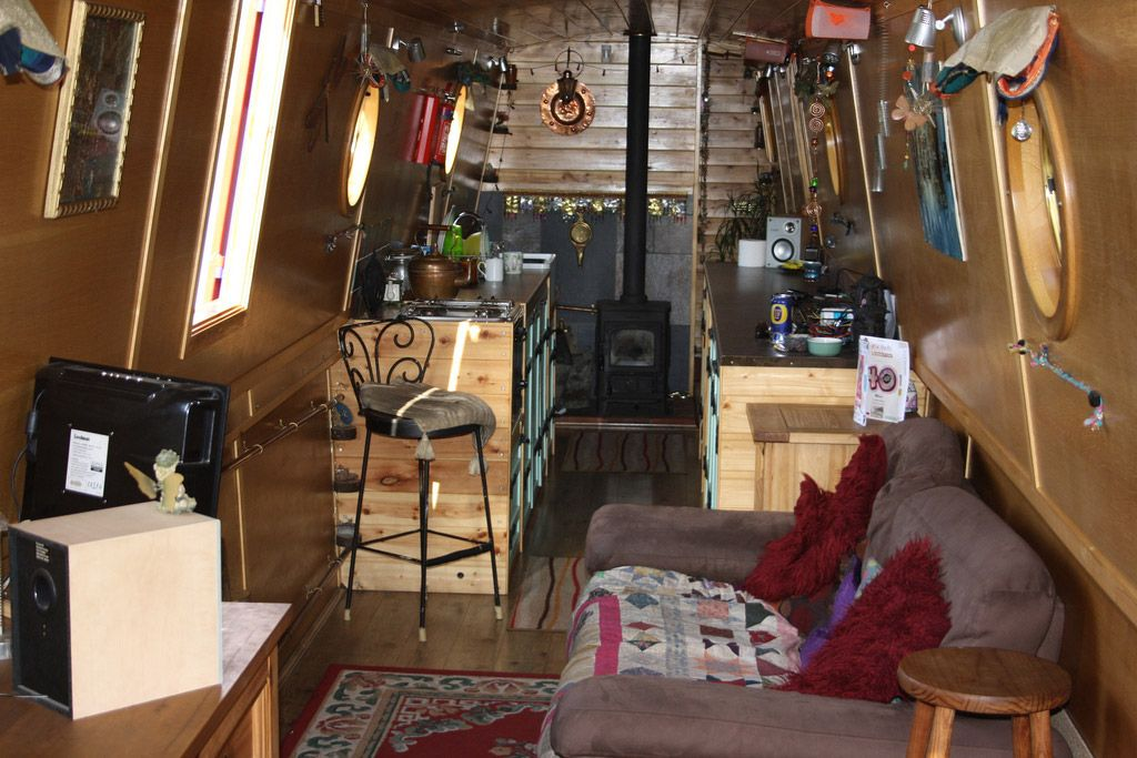 Maybe a little cluttered, but a cosy narrowboat