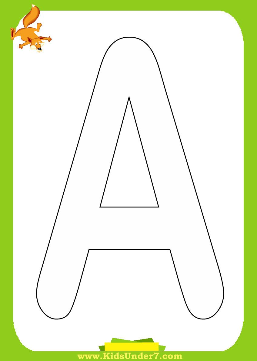 Free printable alphabet coloring pages Alphabet coloring