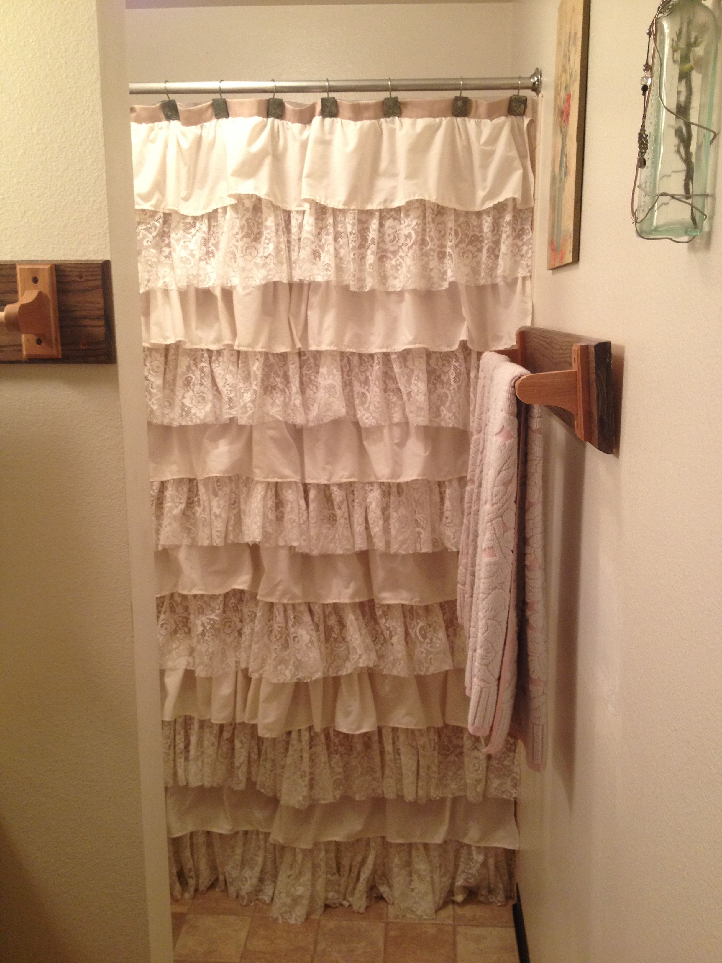 Made My Own Anthropology Inspired Ruffle Shower Curtain Out Of