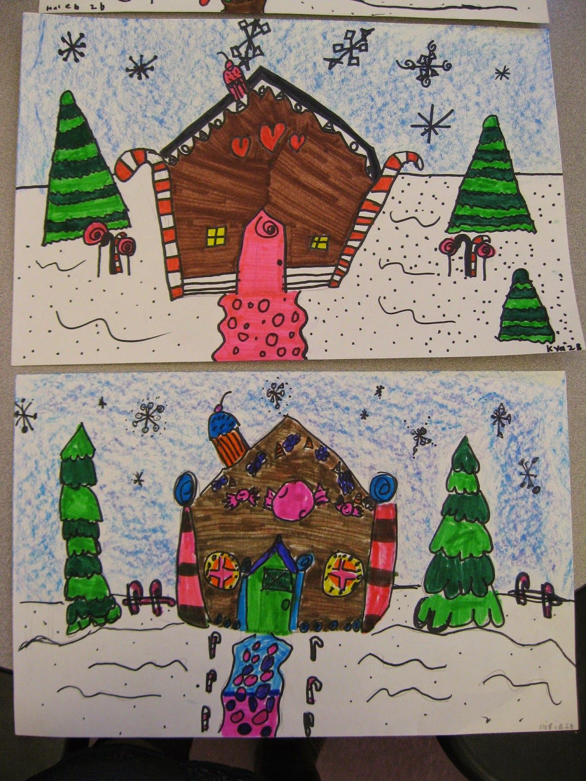 Jamestown Elementary Art Blog 2Nd Grade Candy House Architecture
