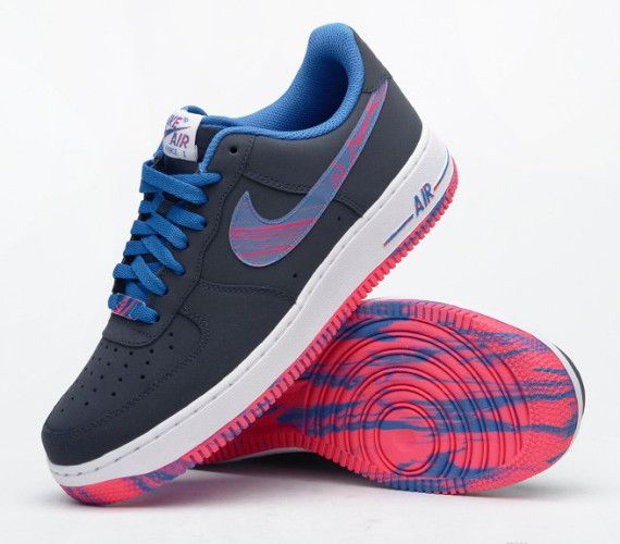 nike air force 1 low blue and pink