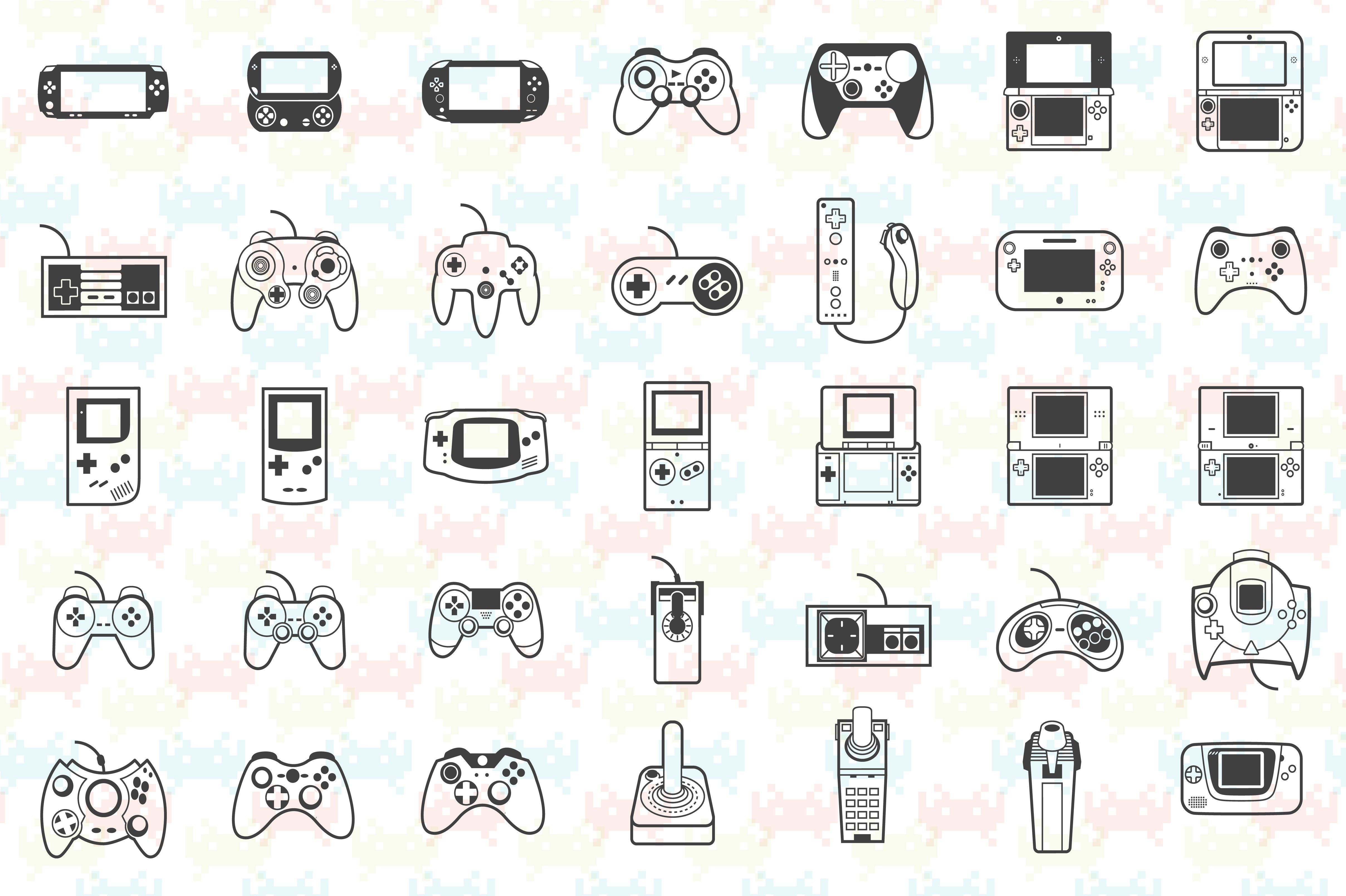 Gaming icon pack in 2020 Nintendo tattoo, Video game
