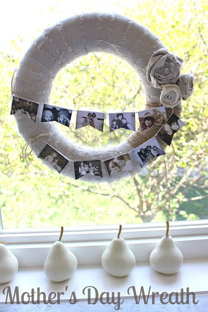 Photo wreath for Mothers Day