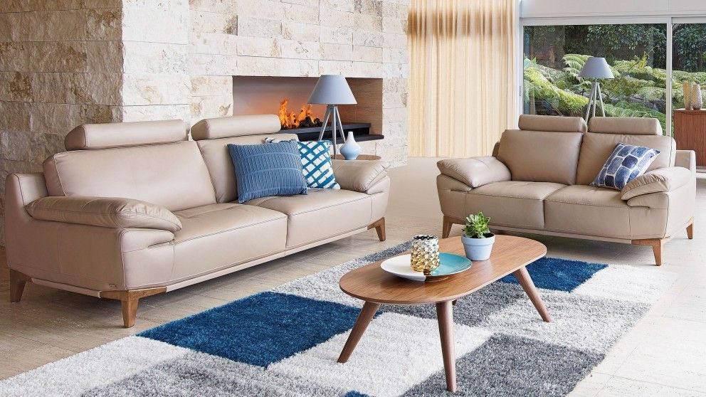 Sophii 3 Seater Leather Sofa - Lounges - Living Room - Furniture ...