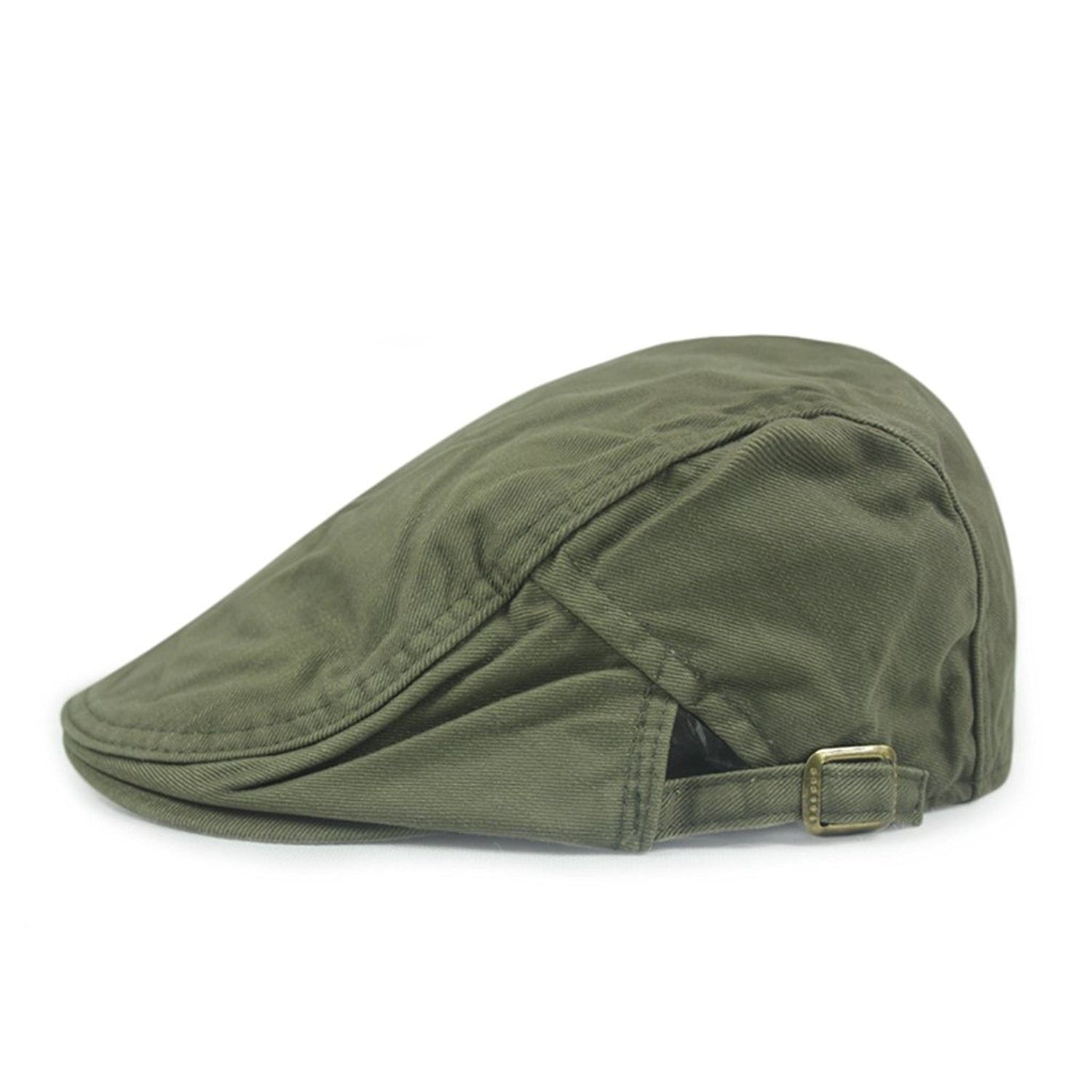 007fb5cbdc0 FASHION Men Womens Duckbill Ivy Cap Golf Driving Flat Cabbie Newsboy Beret  Hat Solid Color - Army Green - CV12F8FXMN5 - Hats   Caps