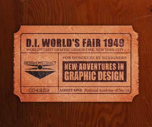 Vintage ticket design Layouts \ Designs Pinterest Photoshop - create a ticket template