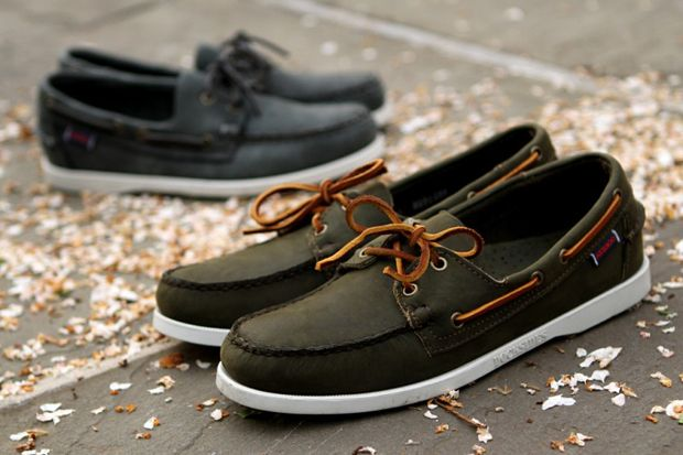 Army Green Sebago's. There's nothing like it
