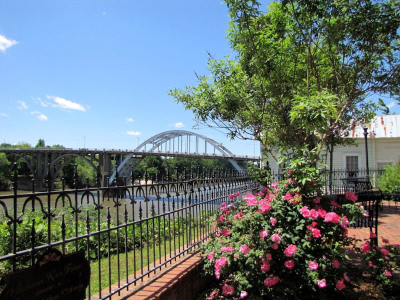 View Of The Edmund Pettus Bridge From Historic St James Hotel At Selma
