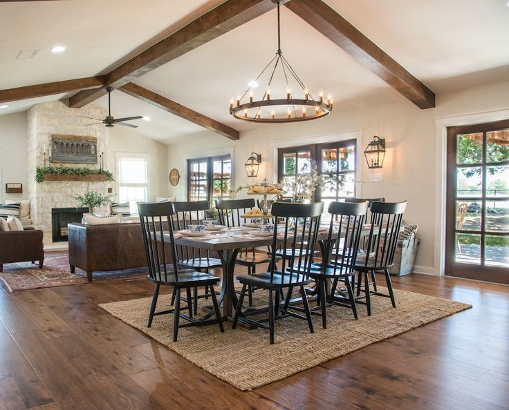 Cool salle manger get this look fixer upper big for Fixer upper dining room ideas