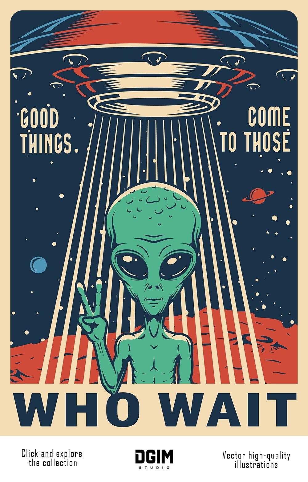 Vintage Space Emblems Set In 2020 Vintage Space Poster Retro Poster Vintage Poster Design