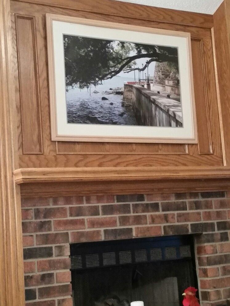 Old garage sale picture frame and 24 x 36 pic i had printed at ...