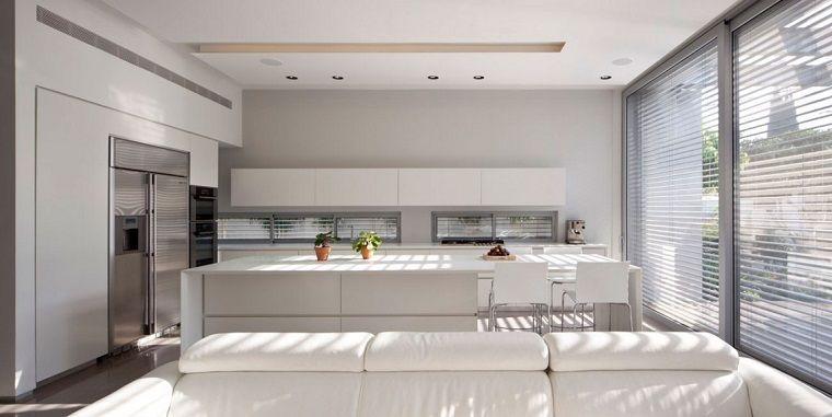 Arredamento Moderno Cucina : Arredamento moderno per una cucina open space con soggiorno tela