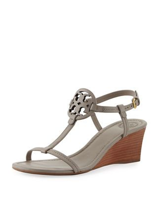7ea0919b3b821 Tory Burch Miller Medallion Wedge Sandals. Find this Pin and more on  Products by Neiman Marcus.