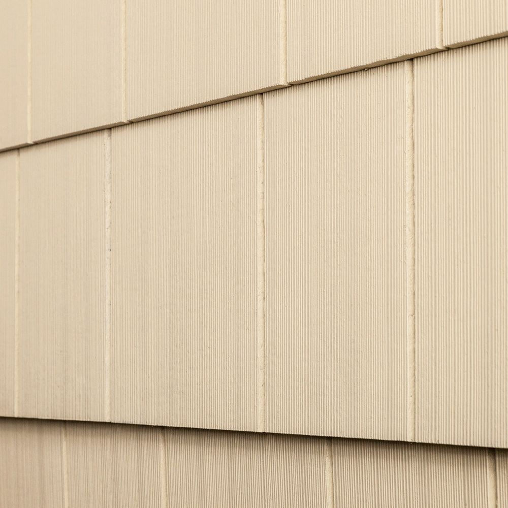 Cerber Fiber Cement Siding Premium 2 Coat Solid Shingle Panels Navajo White Combed Even Edge 1 4 X16 X4 Fiber Cement Siding Siding Shingle Panel