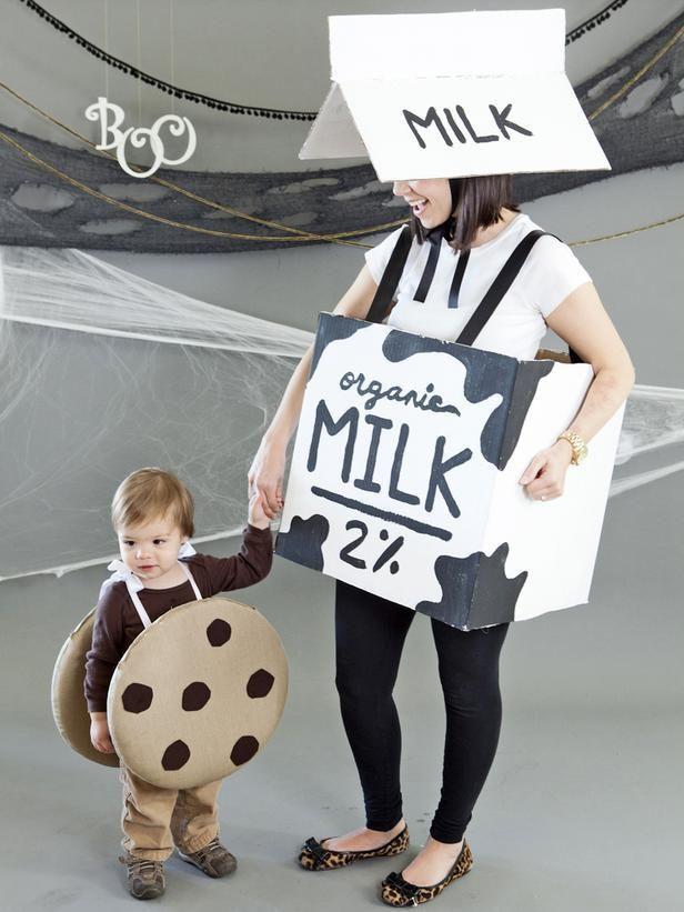 Mom and Child Halloween Costume Milk and Cookies Child halloween - baby halloween costumes ideas