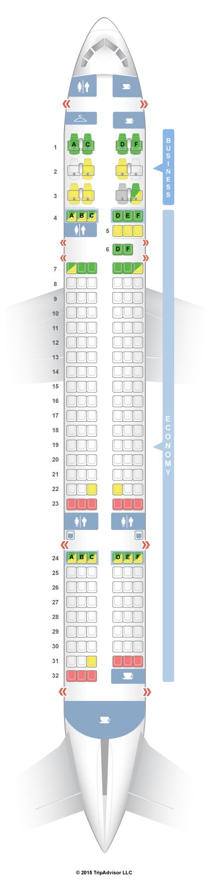 Seatguru Seat Map American Airlines Boeing 757 200 752