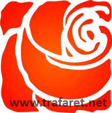 Радикал-Фото: Картинка - Роза трафарет