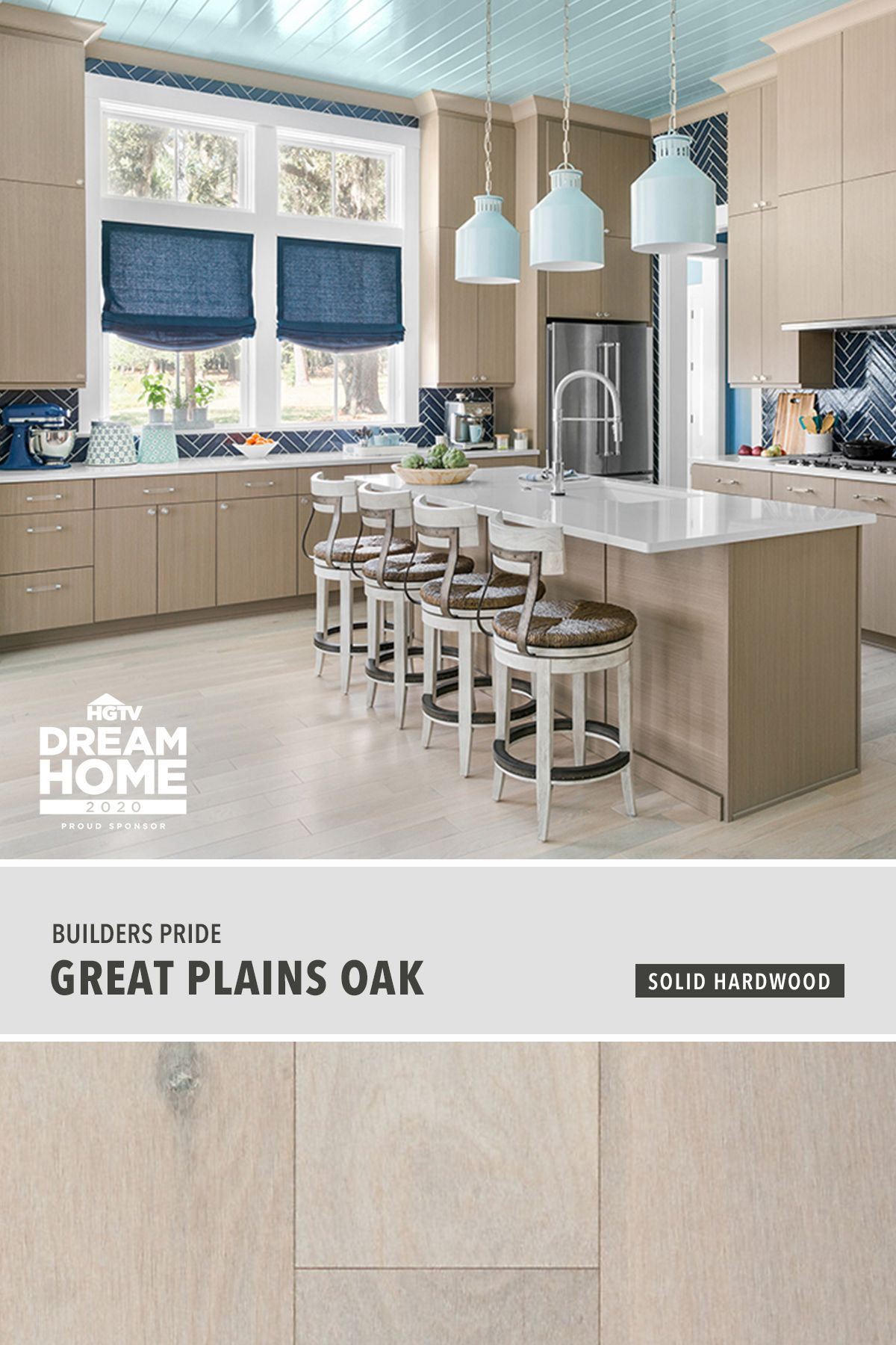 2020 Hgtv Dream Home Great Plains Oak Solid Hardwood Flooring Is A Refreshing Neutral To Set The Stage For Char In 2020 Solid Hardwood Floors Hardwood Floors Flooring
