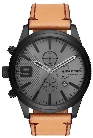 18b298da0d0c Diesel R) Rasp Chronograph Leather Strap Watch