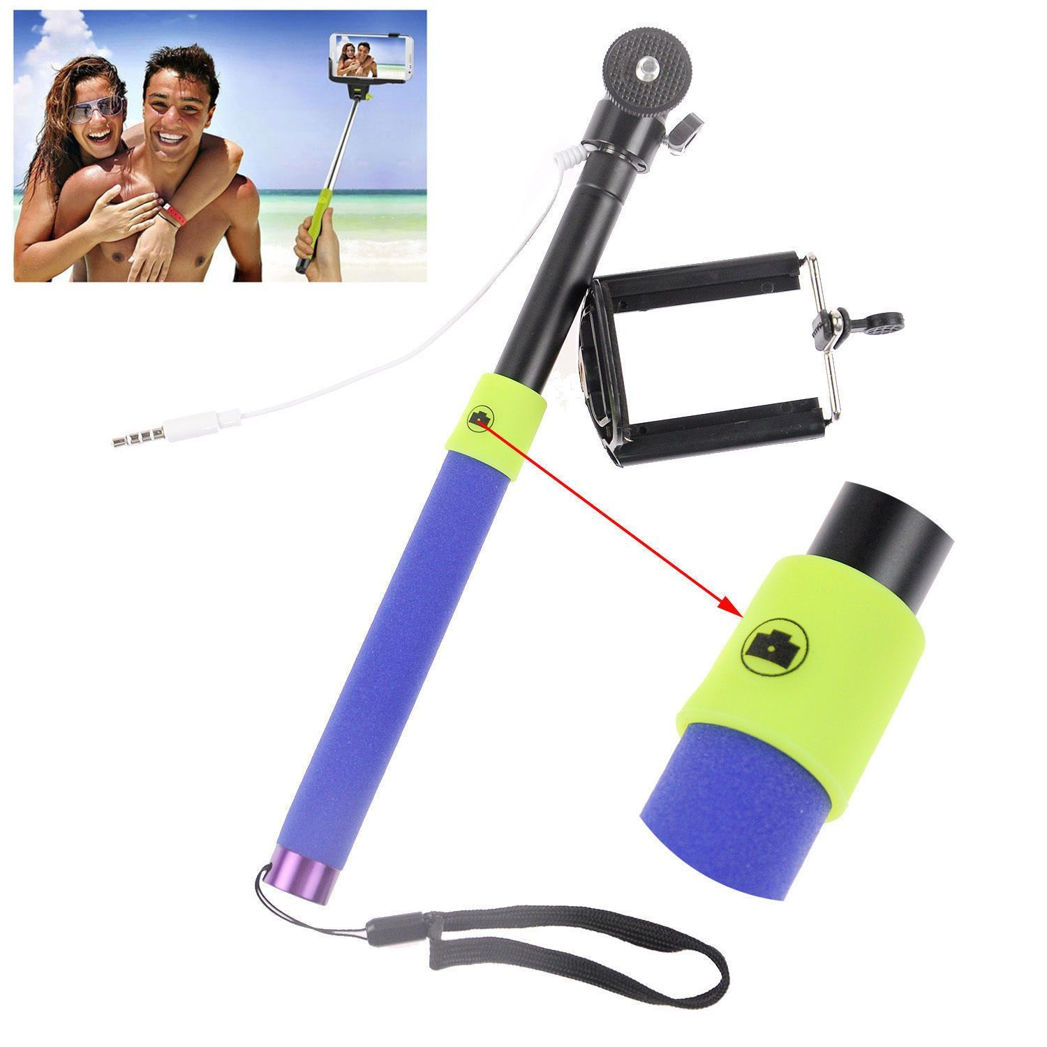 Wired 3.5mm With Sponge Anti Slip Remote Extendable