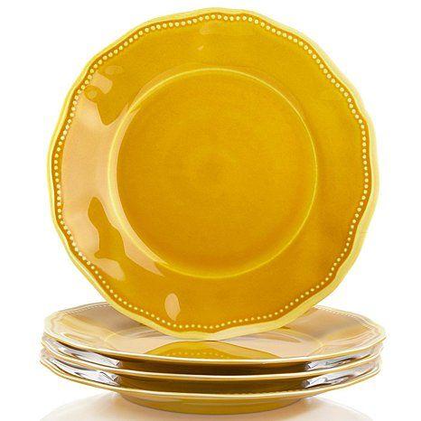 Le Cadeaux Provence 4 Melamine Round Dinner Plates