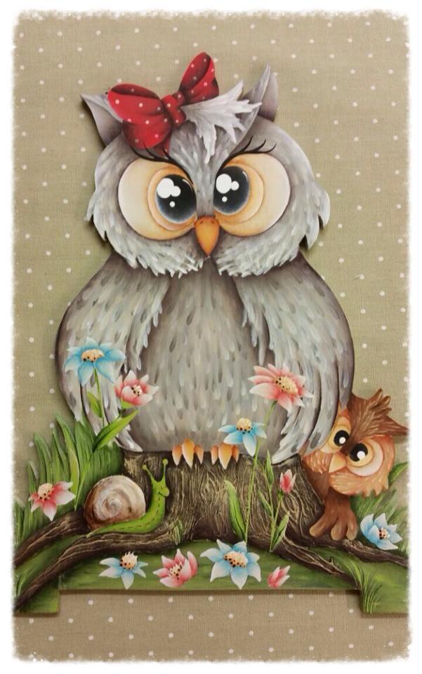 Buhos !!! | lechuza | Pinterest | Pinturas, Pintura en tela y Lechuzas