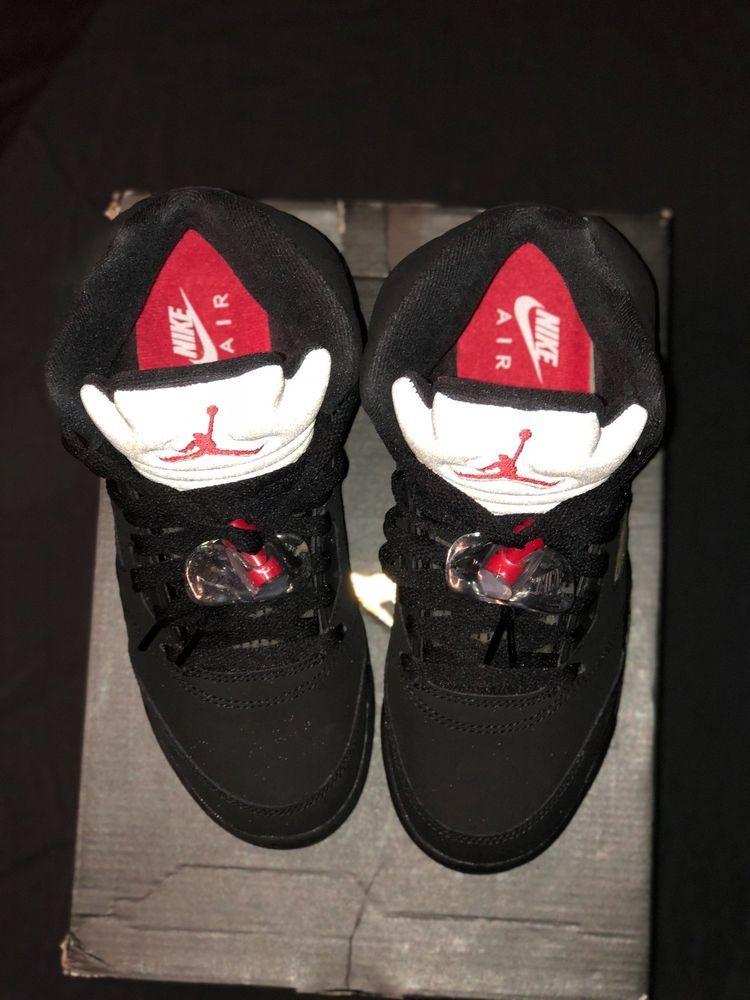 best website 0d10c d1534 AIR JORDAN 5 RETRO V OG BG SIZE 4.5Y METALLIC SILVER  BLACK  FIRE RED BRAND  NEW!  fashion  clothing  shoes  accessories  kidsclothingshoesaccs   boysshoes ...