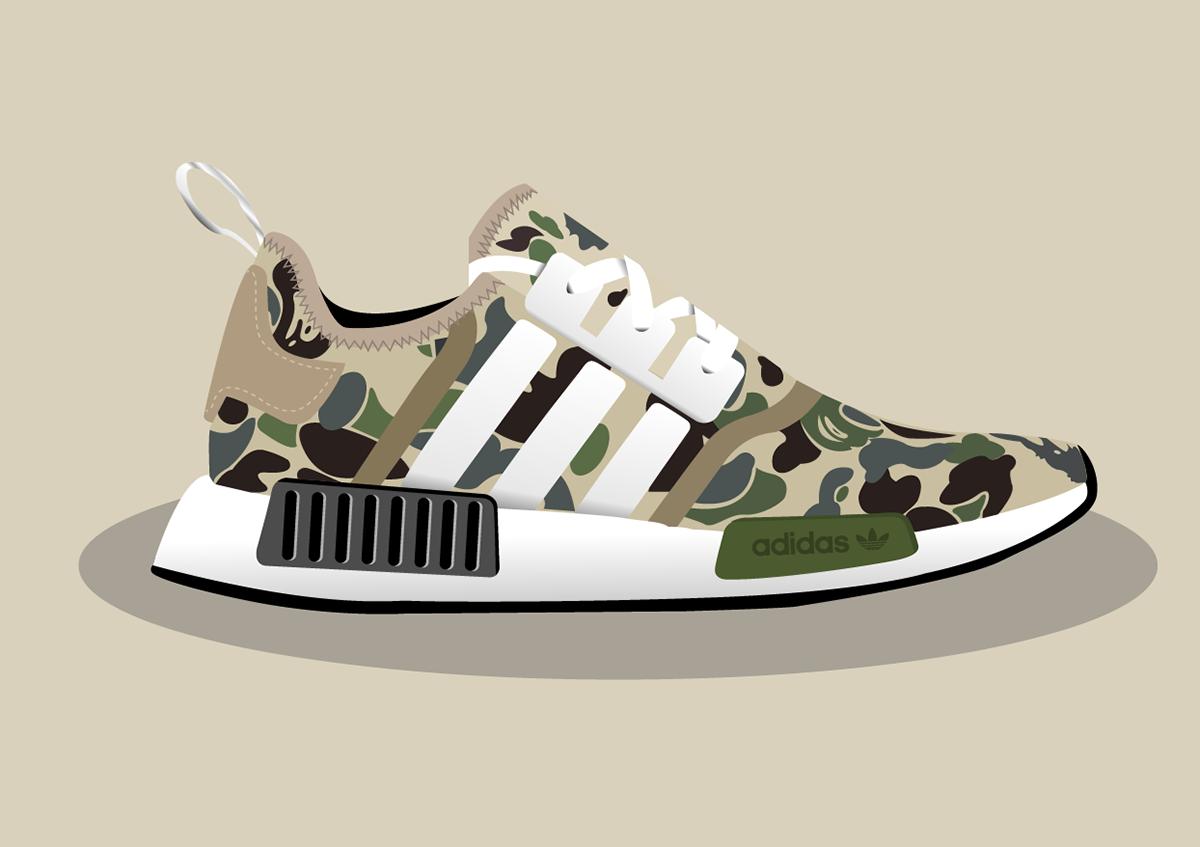 ed3198d5fff2a Bape x Adidas on Behance
