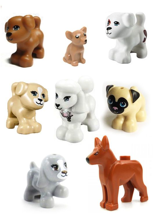 LEGO LOT OF 10 NEW DARK BROWN CATS KITTENS PETS ANIMALS PIECES