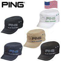 Ping Mens Ranger Cap (Black Pinstripe) Play Your Best Golf Hat NEW ... 78939f0b445