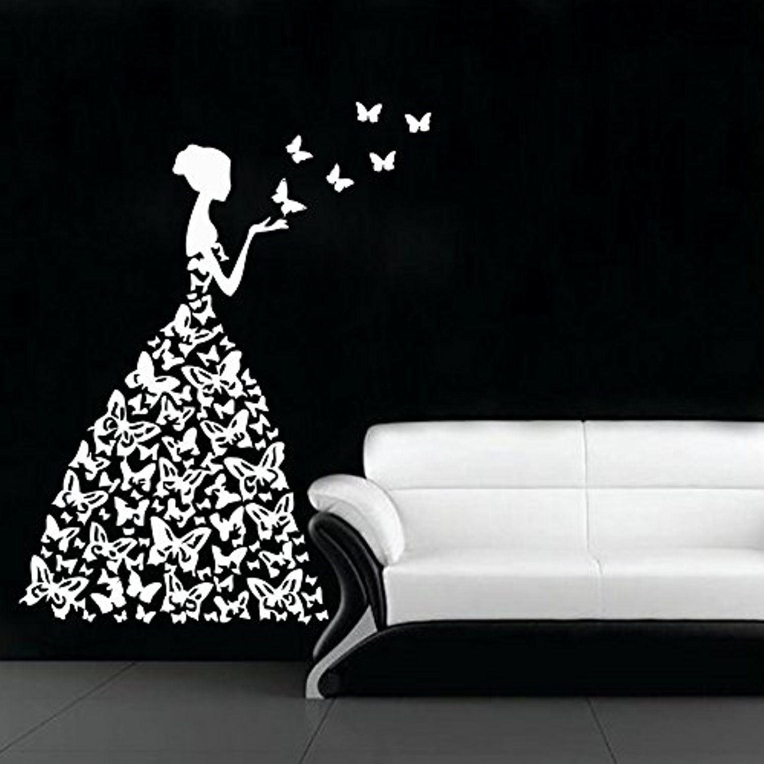 wall decals woman decal vinyl sticker butterfly window on wall stickers for hall id=46216
