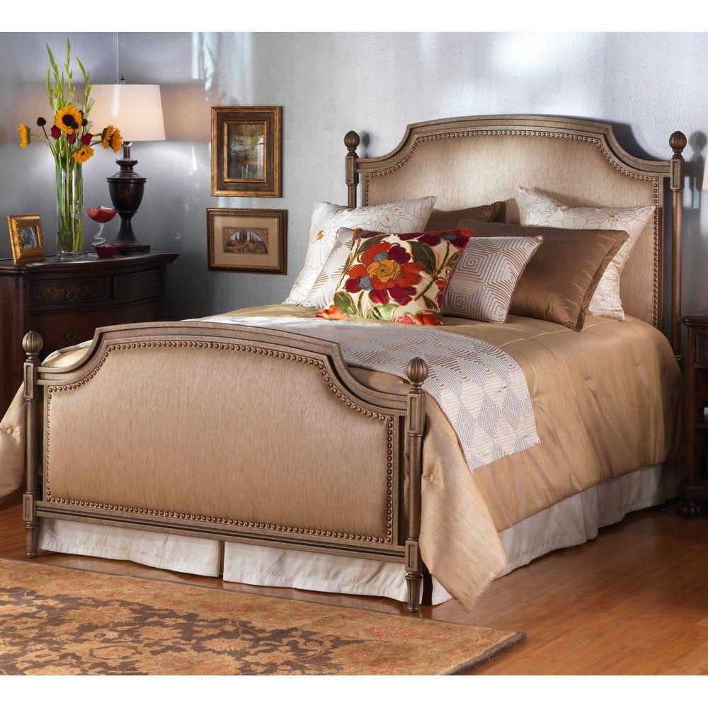 Garnett Iron Upholstered Bed By Wesley Allen Humble Abode Upholstered Beds Iron Bed Upholstery Bed
