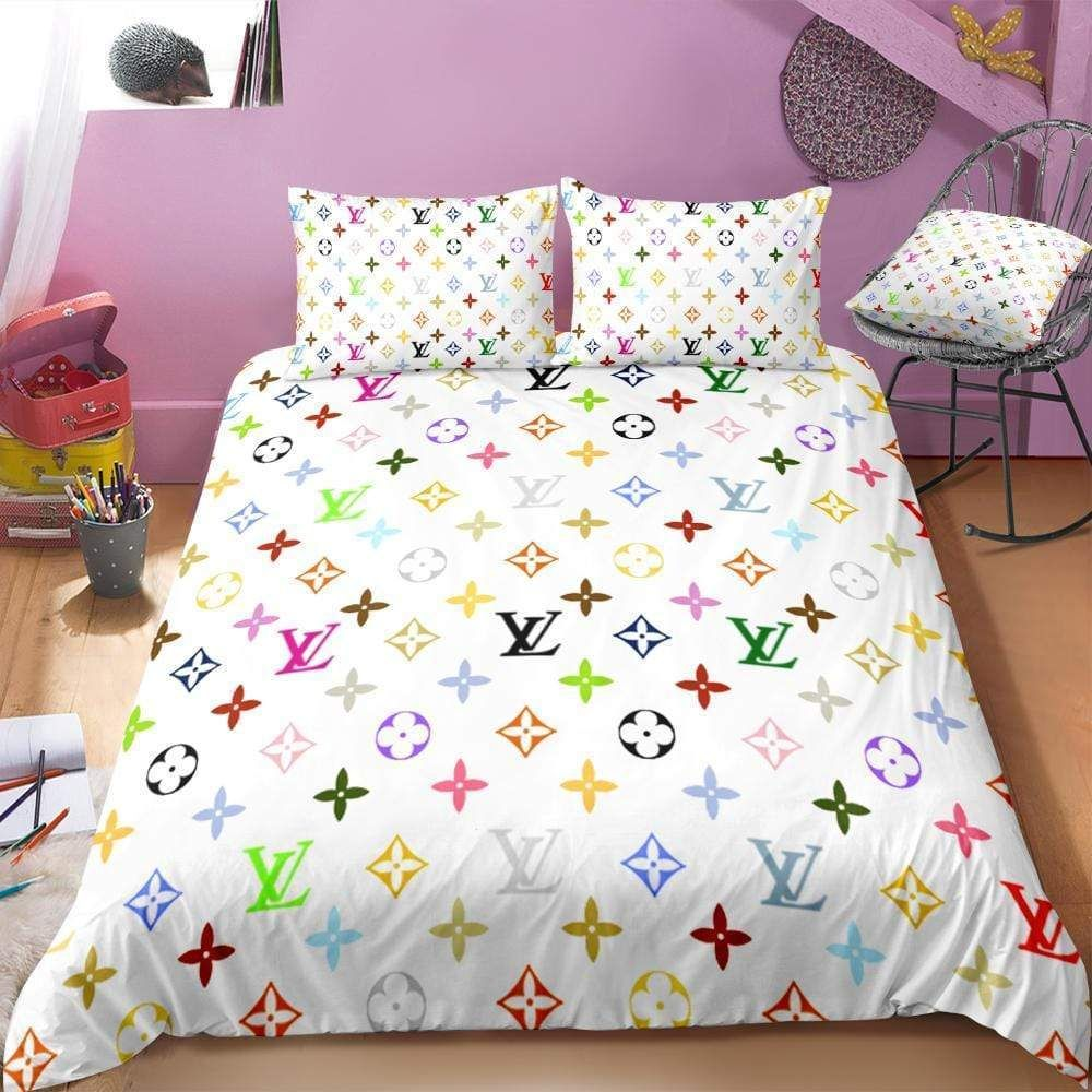 Louis Vuitton Custom Bedding Set Duvet Cover And Pillowcases In 2020 Custom Bed Cute Bed Sets Designer Bed Sheets