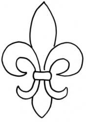 Massif image with fleur de lis stencil printable