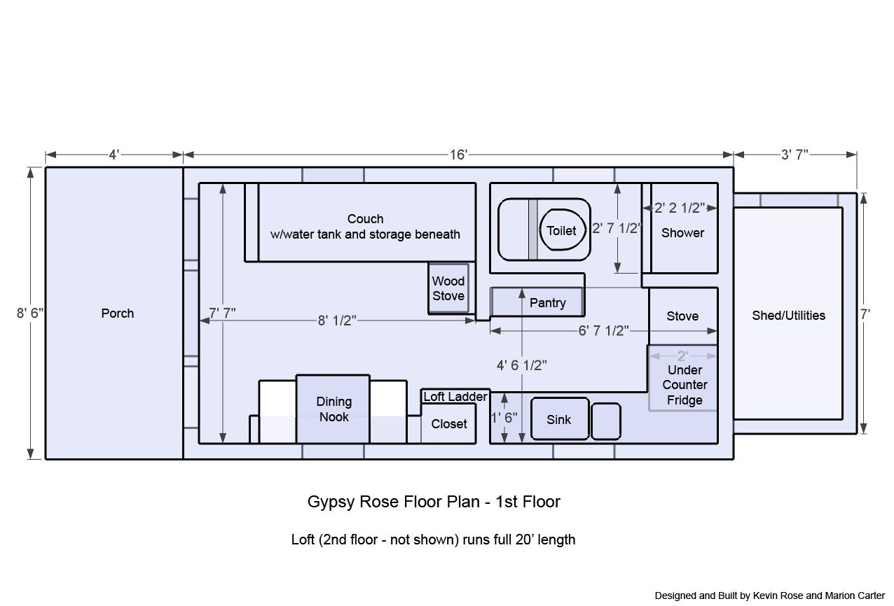 Tiny House Floor Plans Trailer 2 bedroom tiny house plans on wheels – home ideas decor