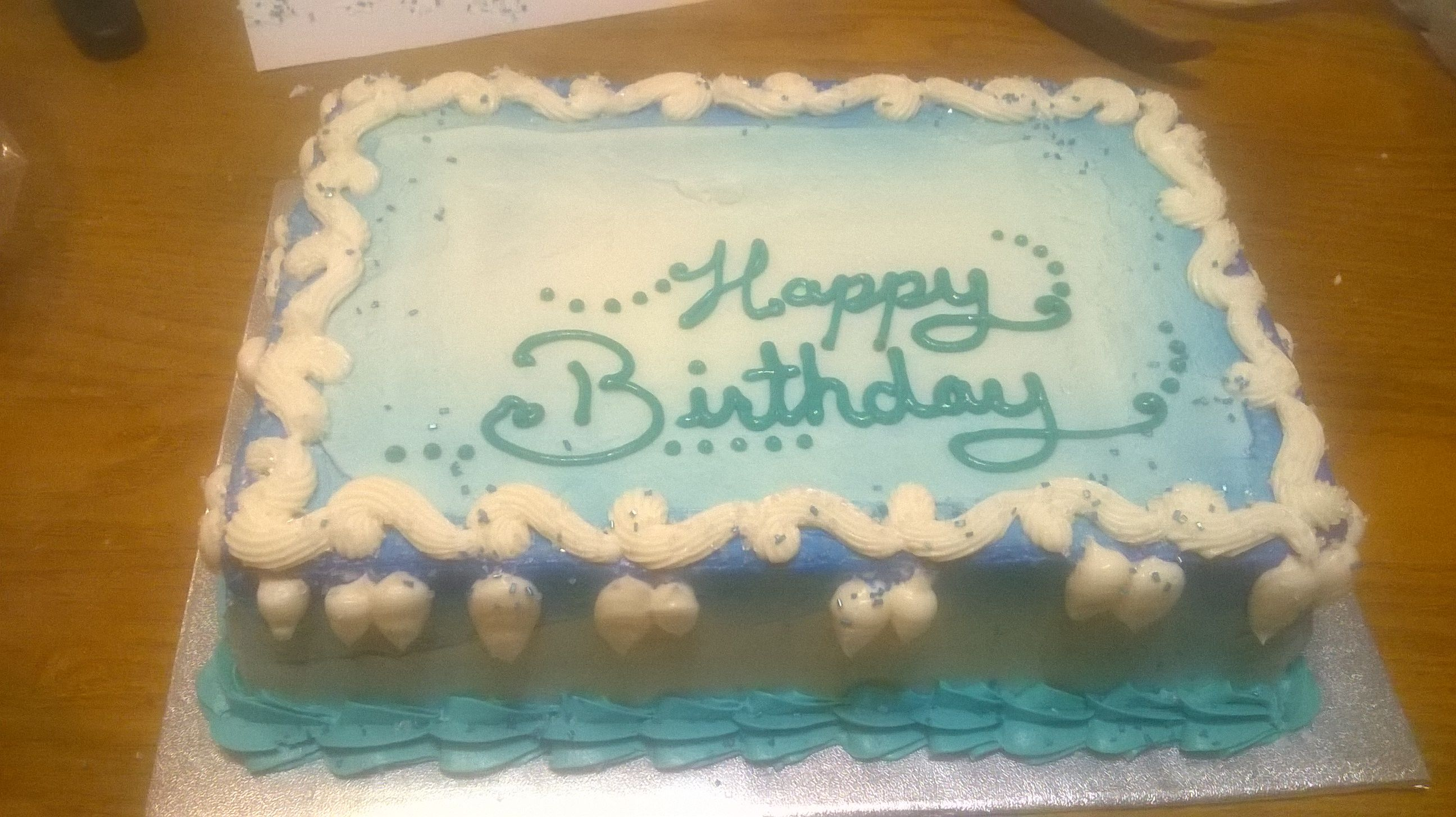 Chocolate and Vanilla Cake--Frozen theme --decorations not applied