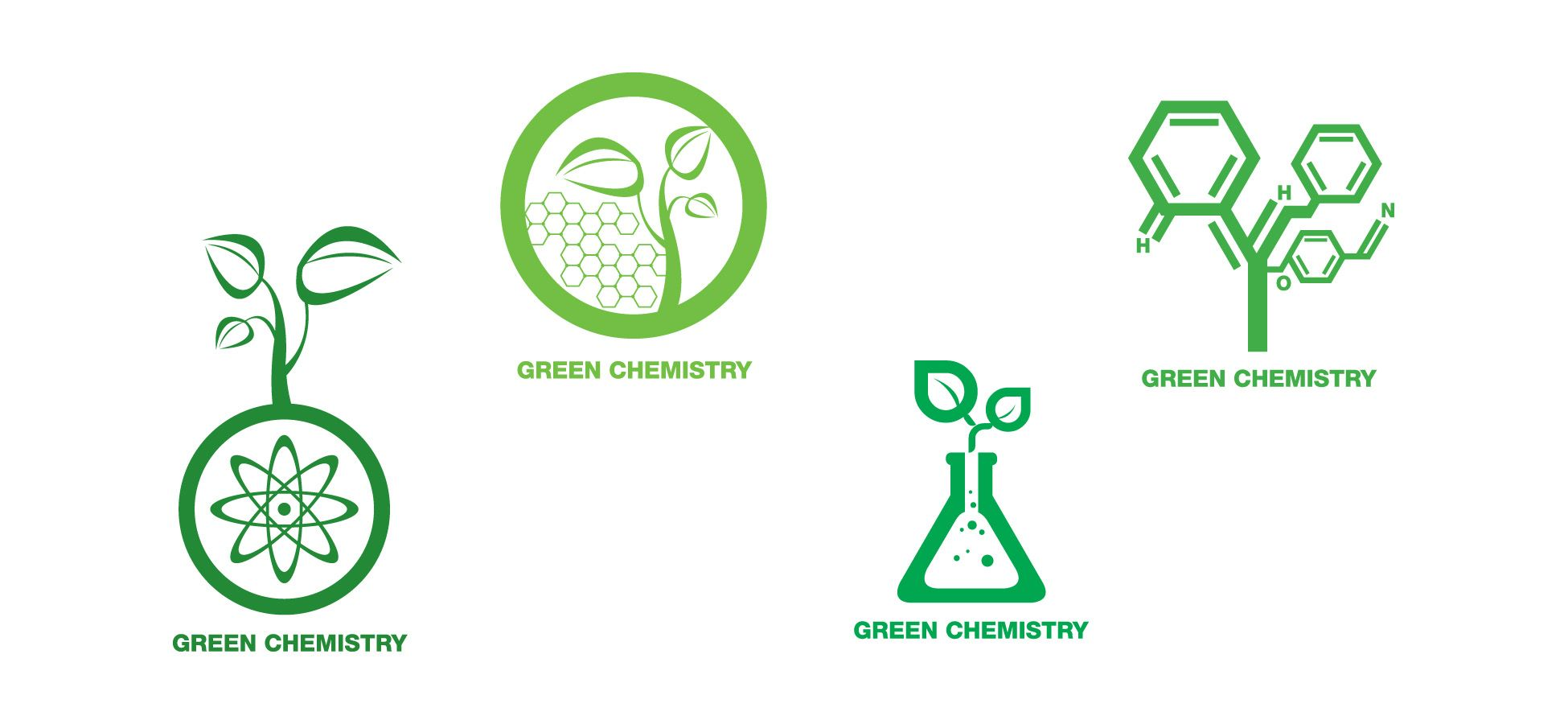 Https Kimiaundip09 Files Wordpress Com 2012 07 Green Chemistry Logo By Ameratsu Jpg Green Chemistry Green Branding Chemistry